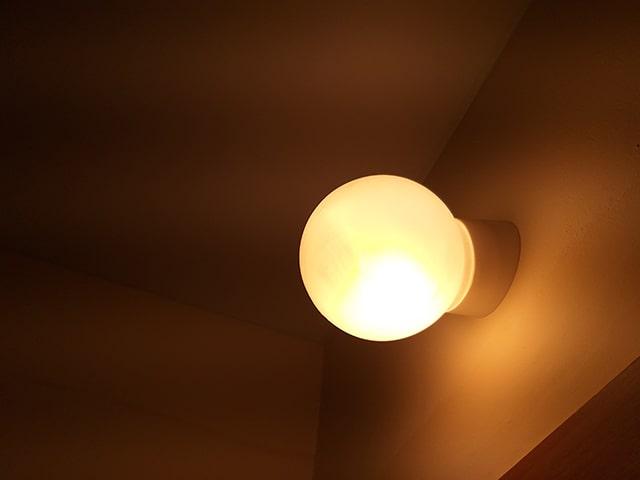 светильник в уборной